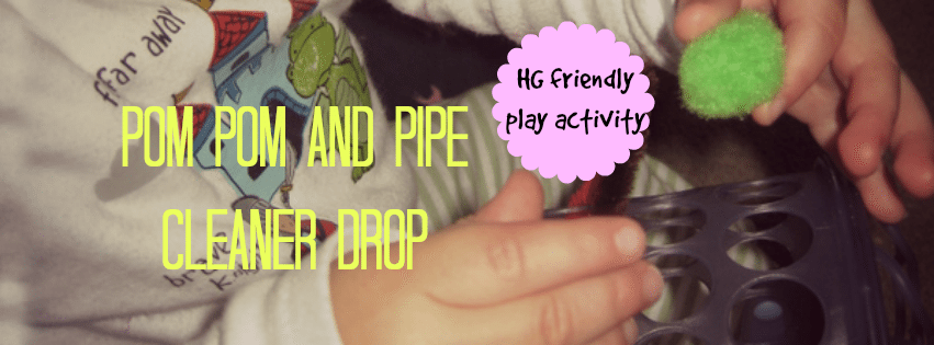 Pom Pom and Pipe Cleaner Drop – Day 23 Toddler Play Challenge