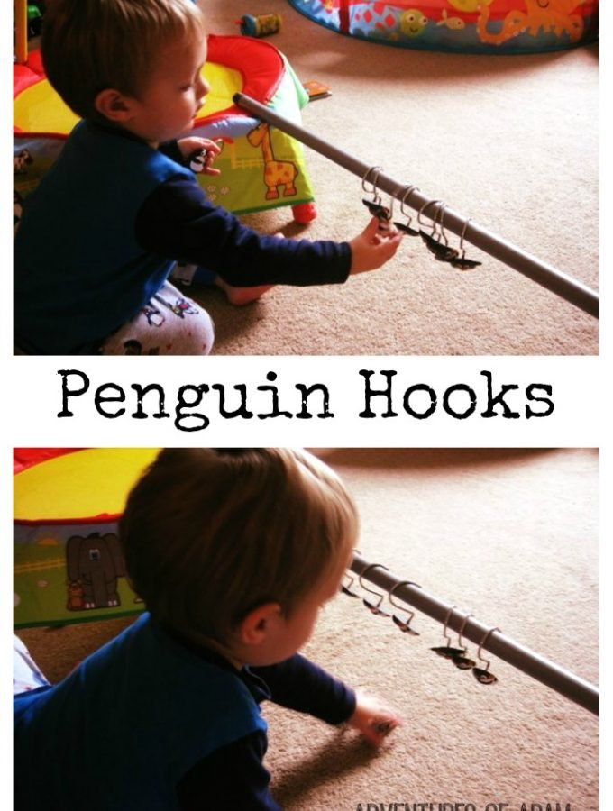 Penguin hooks – Day 15 Toddler Play Challenge