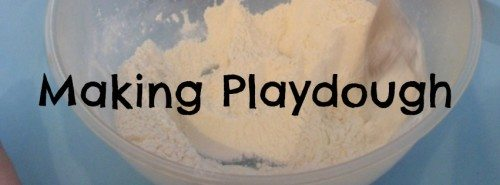 Making Playdough – Day 4 Toddler Play Challenge