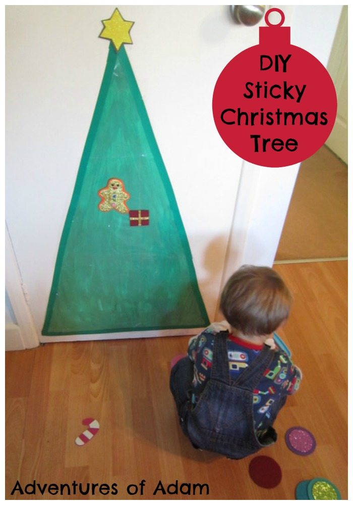 Sticky Christmas Tree – Day 44 Toddler Play Challenge