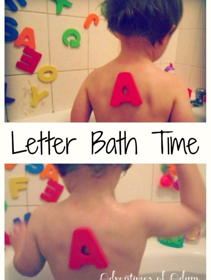 Adventures of Adam Letter Bath Time