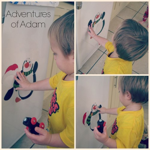 Adventures of Adam toddler play magnetic penguin