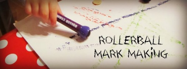 Adventures of Adam rollerball mark making