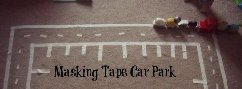 Masking Tape Car Park – Day 97 Toddler Play Challenge
