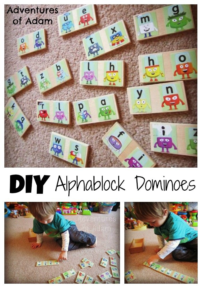 DIY Alphablock Dominoes Adventures of Adam