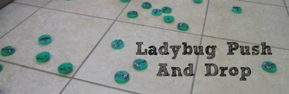 Ladybug push and drop – Day 83 Toddler Play Challenge