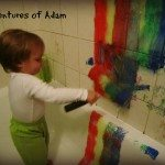 Adventures of Adam Rainbow Painting in the bath