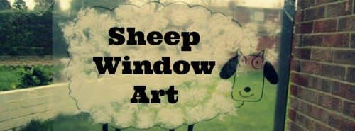 Sheep Window Art  – Day 91 Toddler Play Challenge