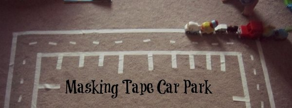 Adventures of Adam masking tape car park