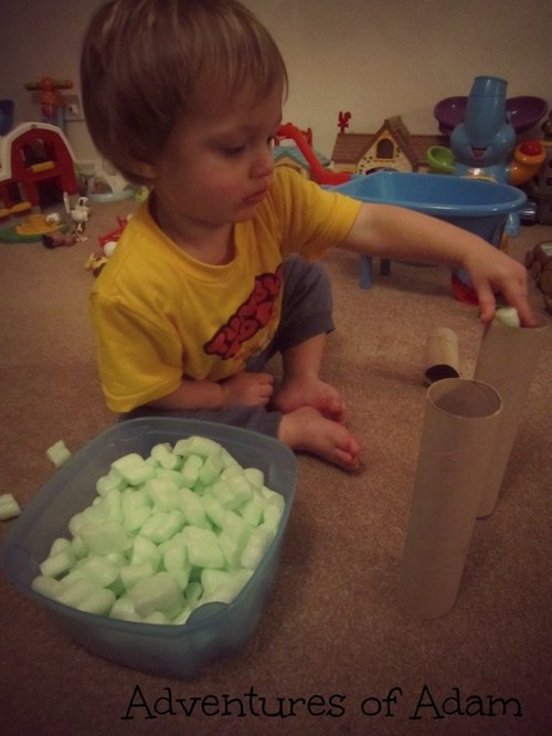 kitchen roll toddler play