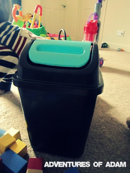 Adventures of Adam toddler play Block Bin Drop