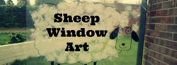 Adventures of Adam sheep window art