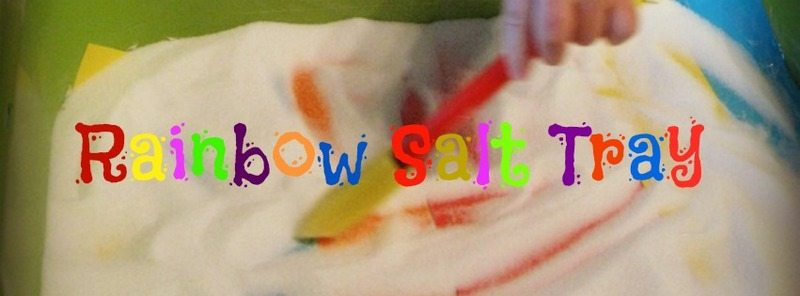 Rainbow Salt Tray – Day 24 Toddler Play Challenge