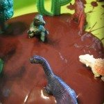 Adventures of Adam melted chocolate sensory bin