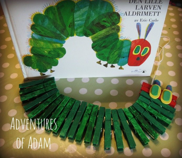Adventures of Adam The Hungry Caterpillar clothespin