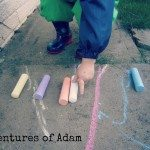 Adventures of Adam chalk mark making