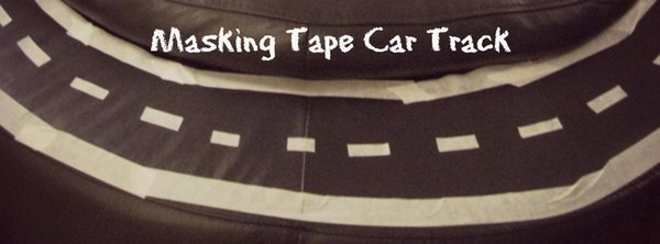 Adventures of Adam masking tape car track