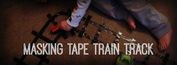 Adventures of Adam masking tape train track
