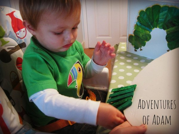 Adventures of Adam toddler play The Hungry Caterpillar