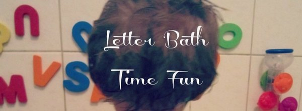 Adventures of Adam letter bath time fun