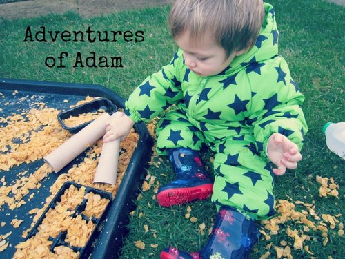 Adventures of Adam cornflake sensory Tuff Spot