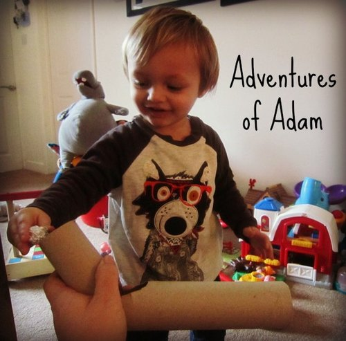 Adventures of Adam toddler play toilet roll marble run
