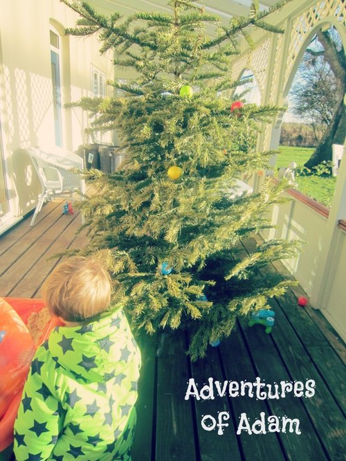 Adventures of Adam toddler play Mr Tumble Christmas Tree