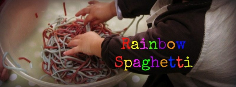 Rainbow Spaghetti – Day 5 Toddler Play Challenge