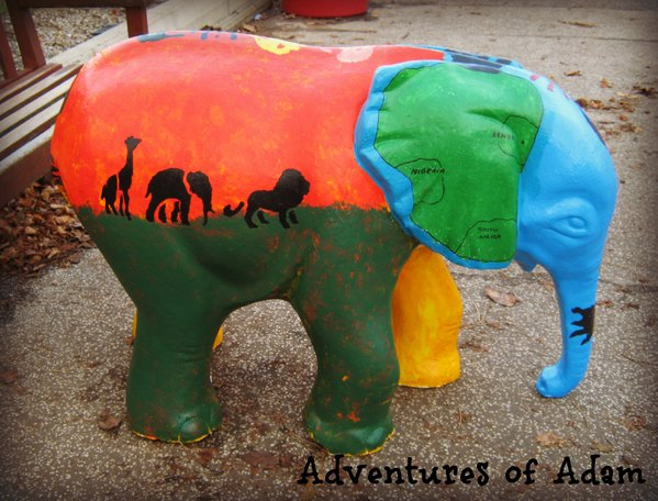 Adventures of Adam class painted baby elephant