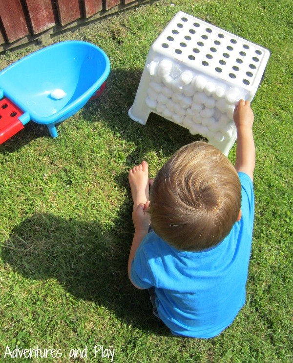 Fine motor farm yard play activity