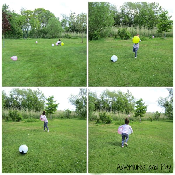 Gross motor play with balloons