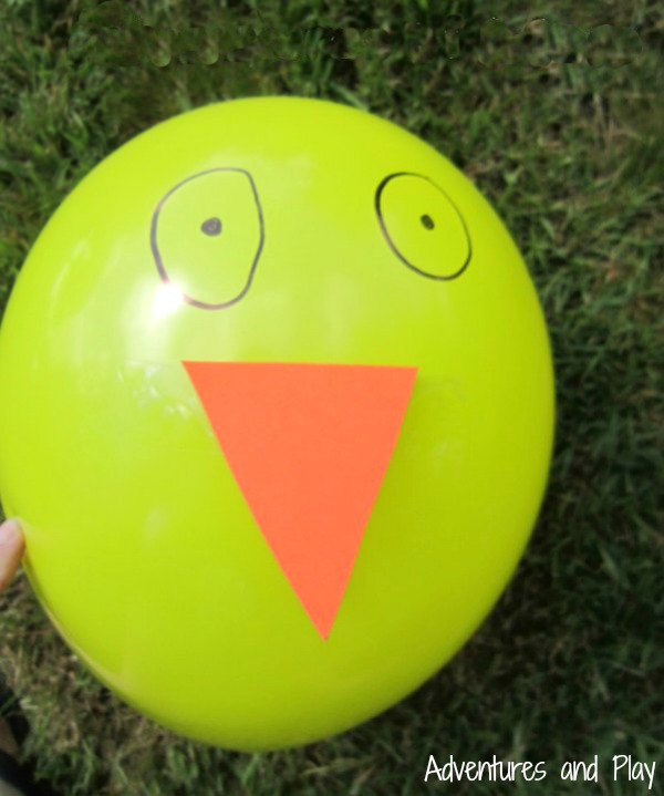 Make your own chick balloon