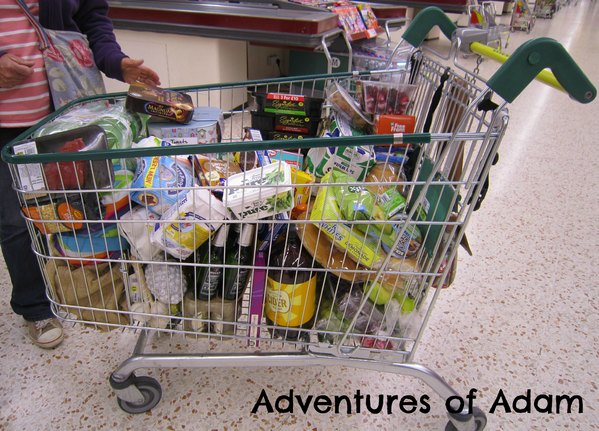 Adventures of Adam MorrisonsMum shopping trolley