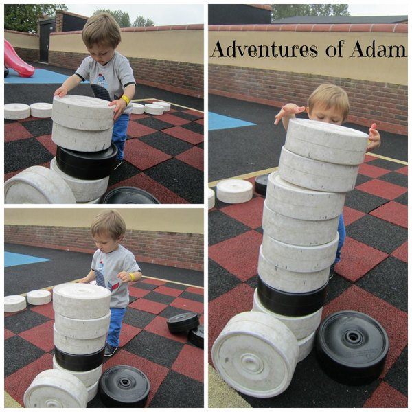 Adventures of Adam building another tower Playbarn