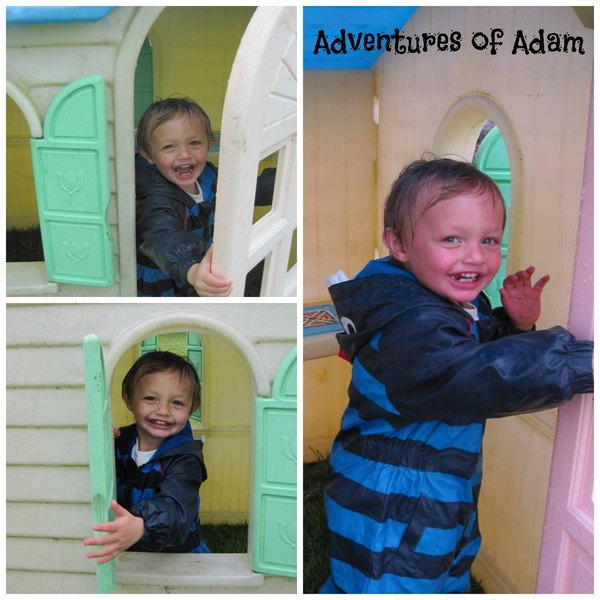 Adventures of Adam playing peek-a-boo in the playhouse