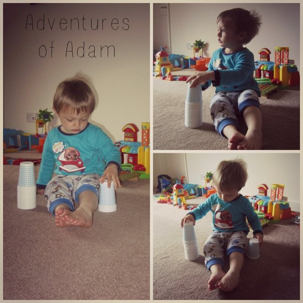 Adventures of Adam stacking cup fun