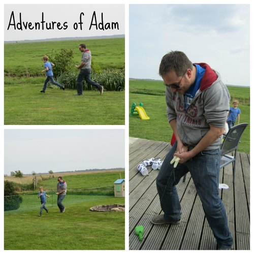 Adventures of Adam cow udder water fight