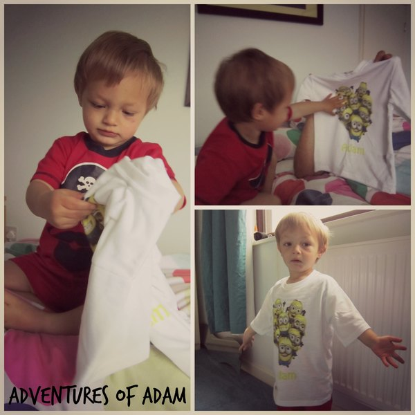 Adventures of Adam minion tshirt
