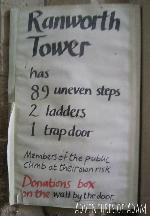 Adventures of Adam Ranworth Church tower sign
