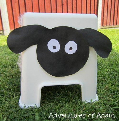 Adventures of Adam Ikea stool turned into a sheep