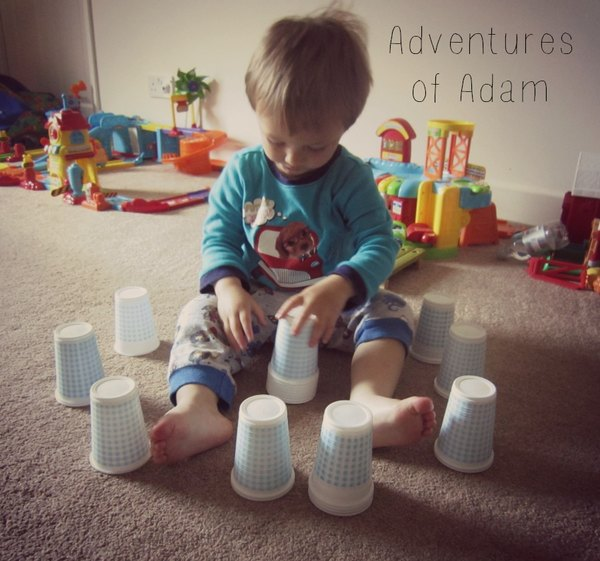 Adventures of Adam toddler cup stacking