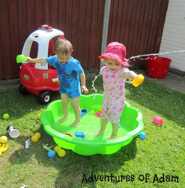 Adventures of Adam toddler padling pool fun