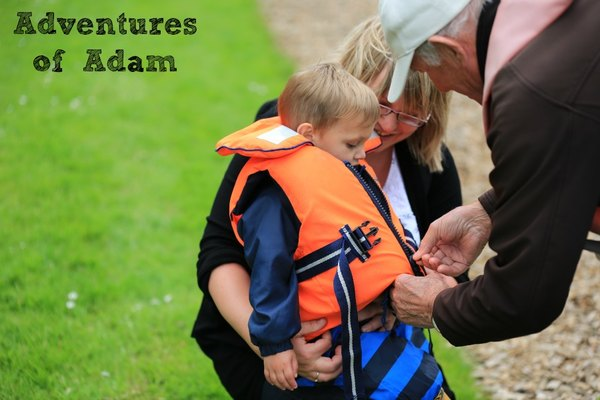 Adventures of Adam toddlers first lifejacket