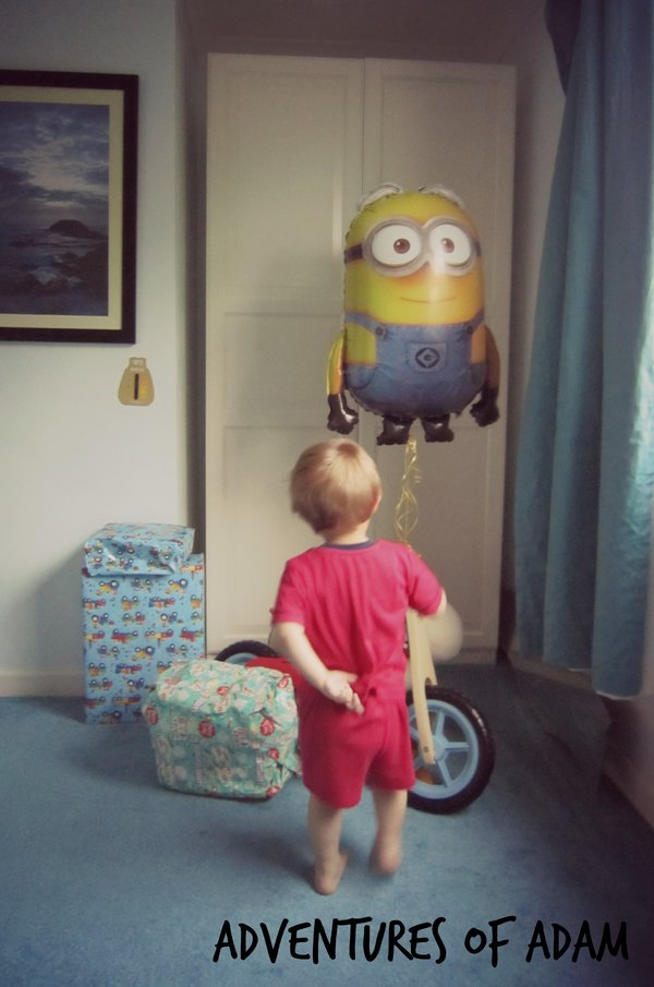 Adventures of Adam giant minion balloon