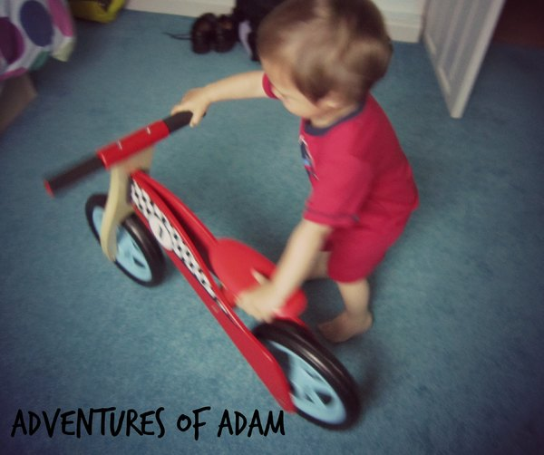 Adventures of Adam birthday balance bike