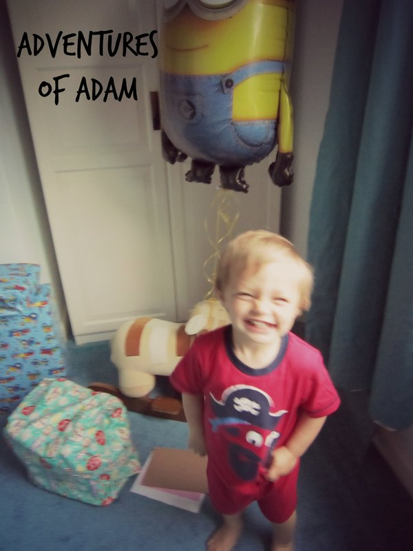 Adventures of Adam cheeky birthday grin