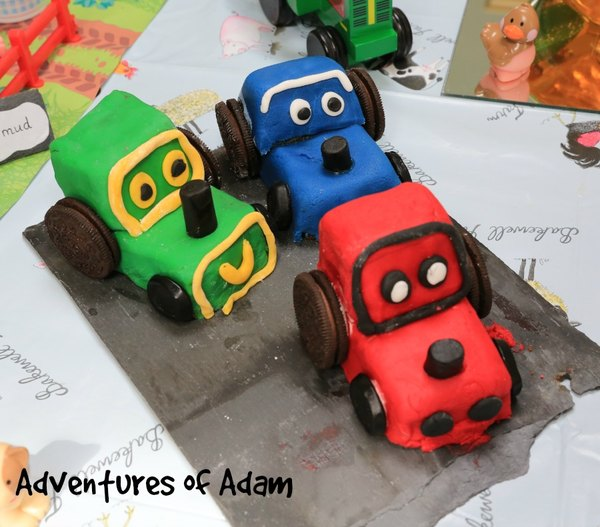 Adventures of Adam tractor cakes
