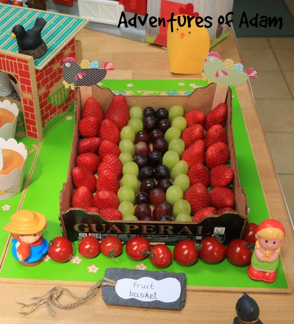 Adventures of Adam fruit basket party food