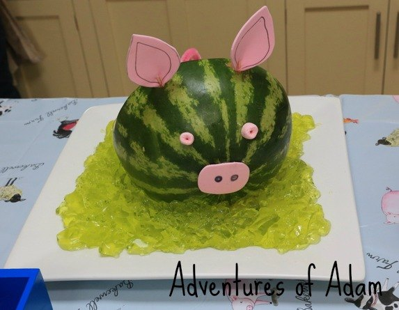Adventures of Adam Watermelon Pig on jelly