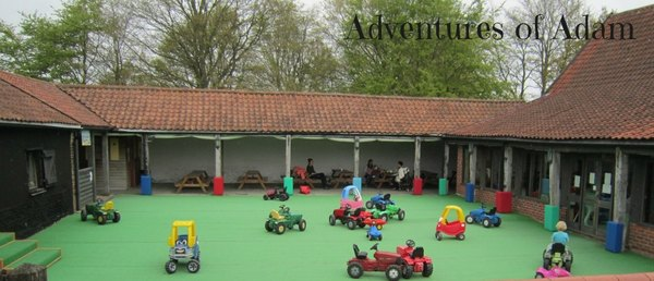 Adventures of Adam tractor courtyard Playbarn